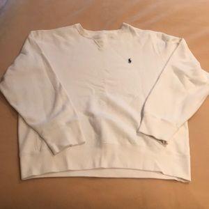 White Polo by Ralph Lauren sweatshirt Large